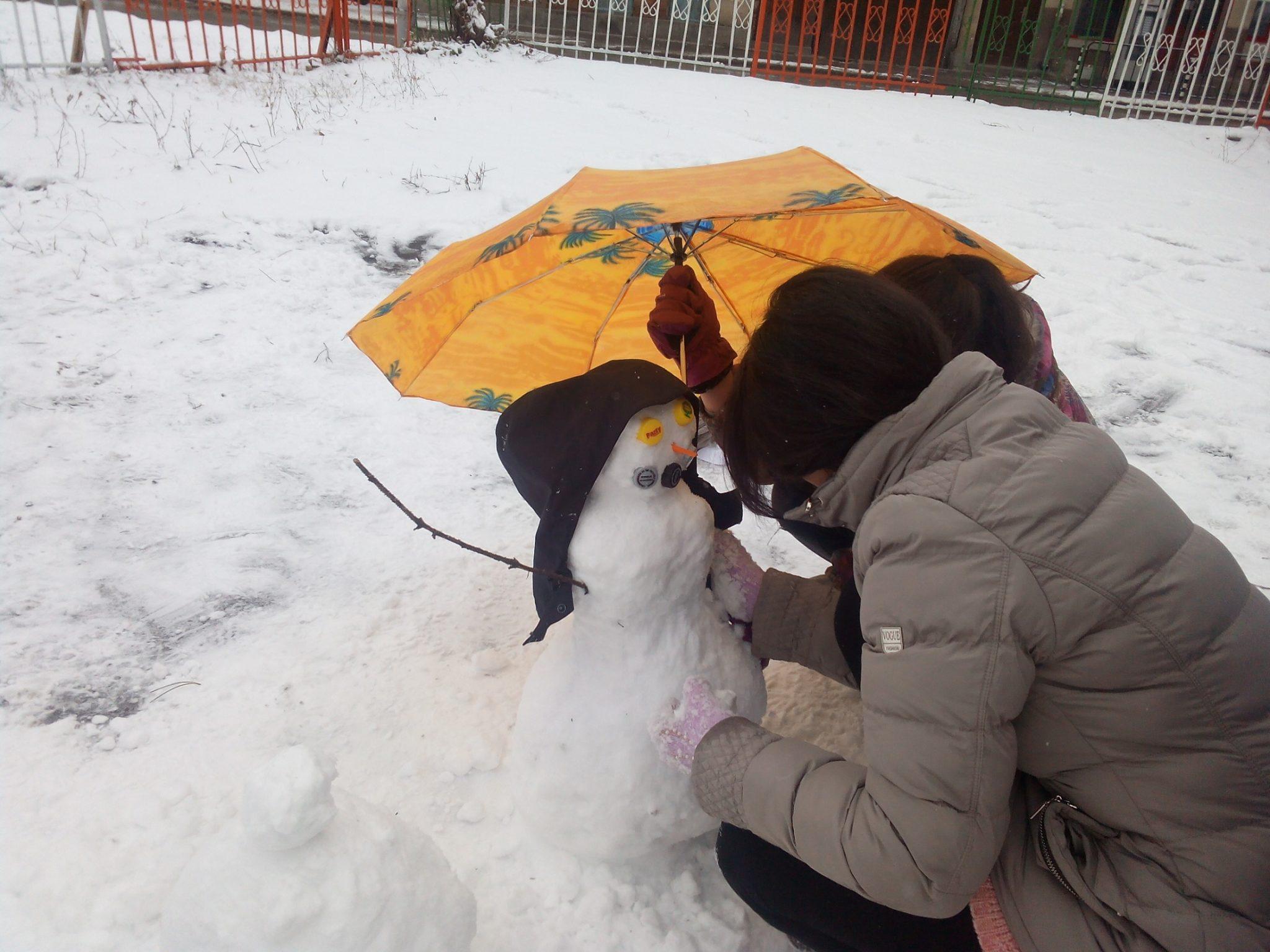 конкурс Снежен човек 7 клас
