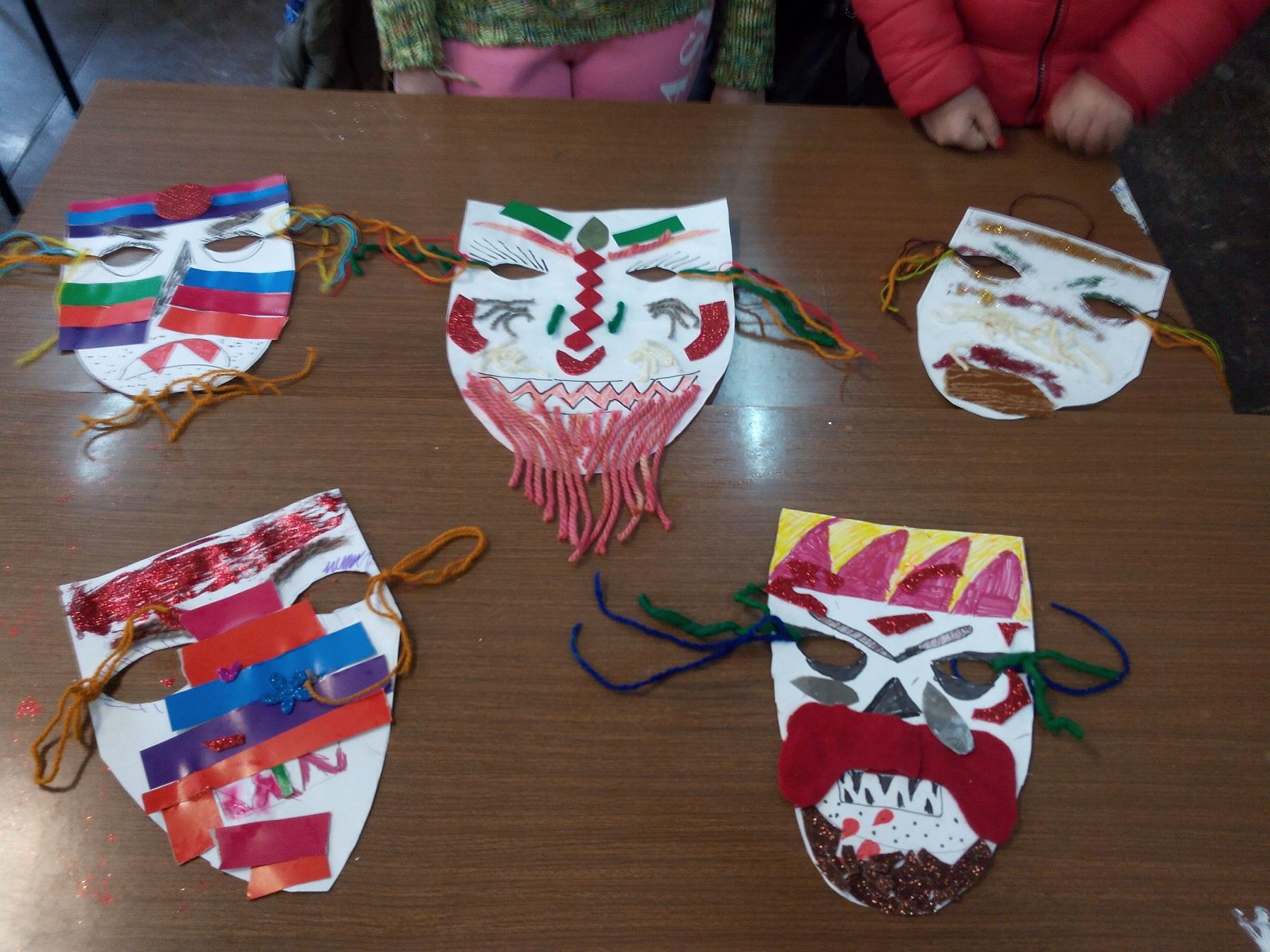 """Кукерски маски изработени от ученици на ОУ """"Иван Хаджийски"""""""""""