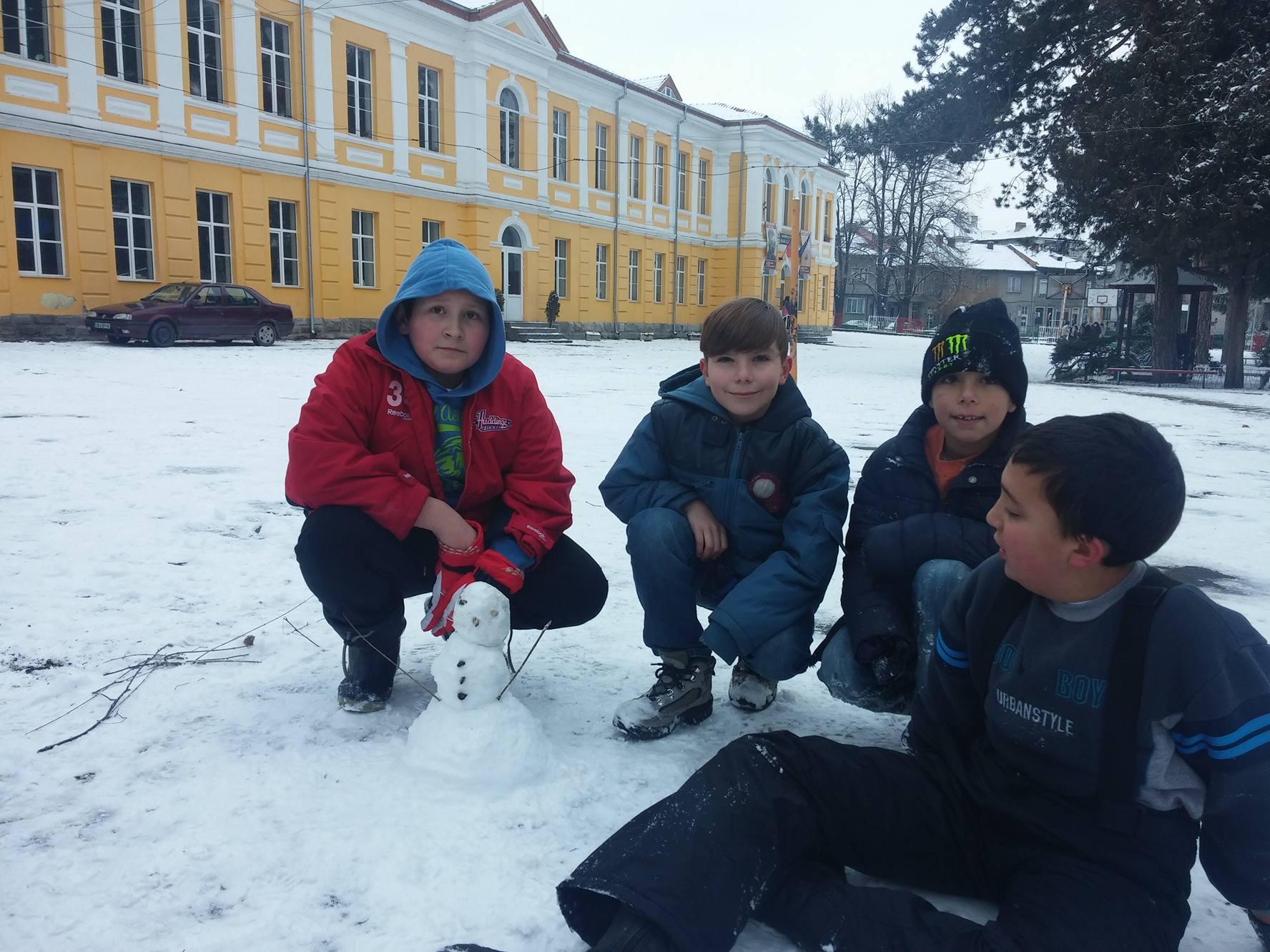конкурс Снежен човек 4 клас